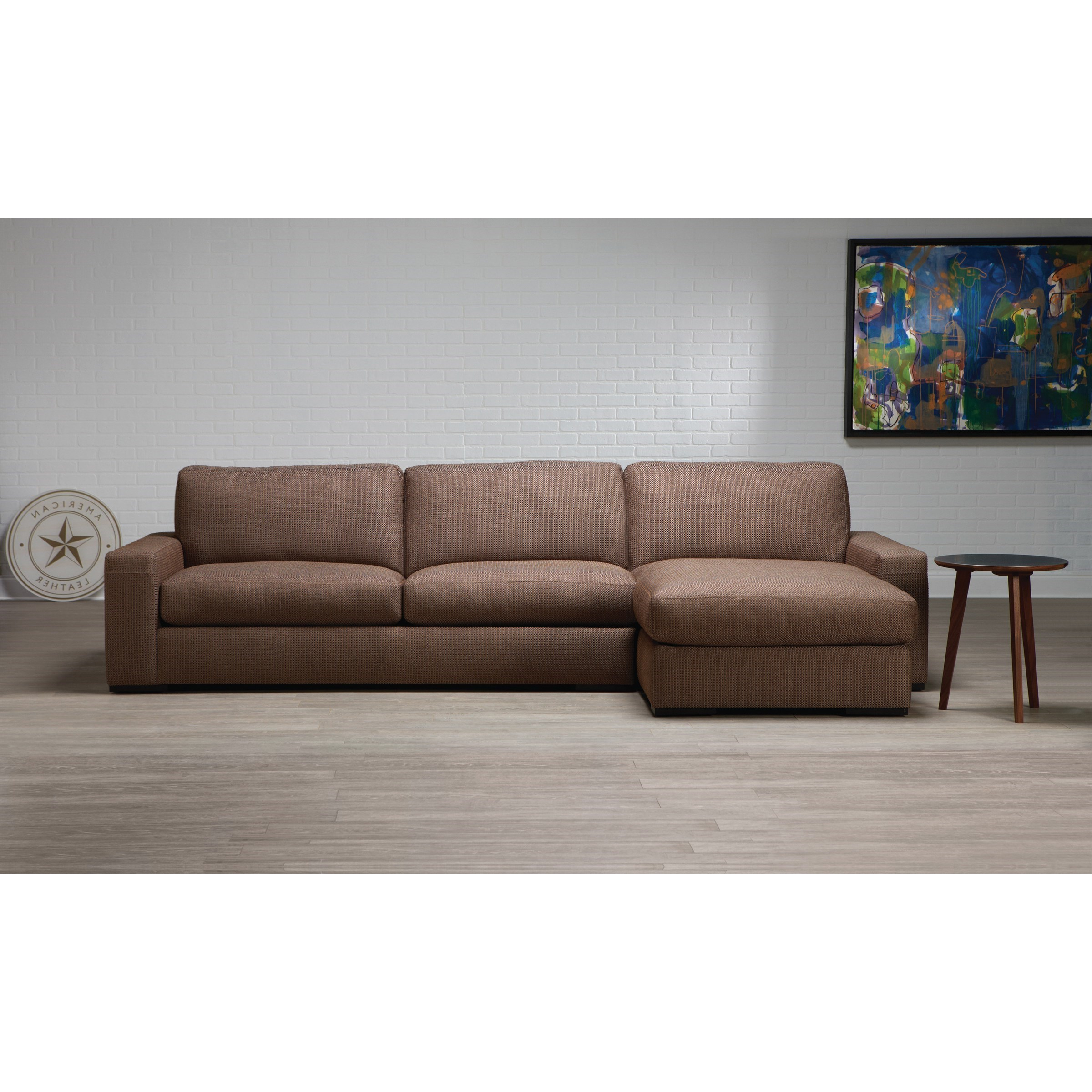 Preferred American Leather Westchester Contemporary 2 Piece Within 2Pc Connel Modern Chaise Sectional Sofas Black (View 11 of 25)