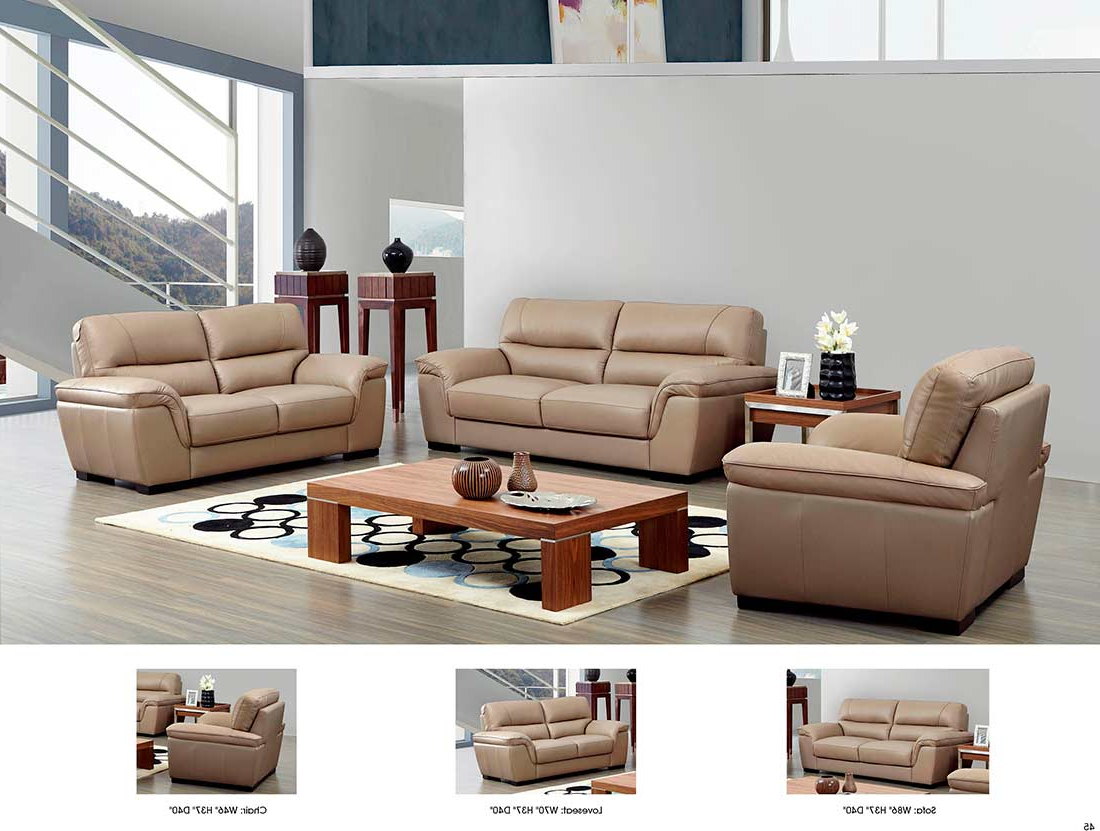Preferred Beige Leather Sofa Ef (View 10 of 15)