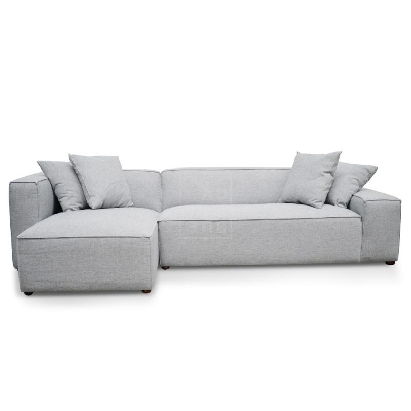 Preferred Calvin Concrete Gray Sofas Regarding Jason 2 Seater Right Chaise Sofa – Cement Grey – Moorabbin (View 8 of 15)