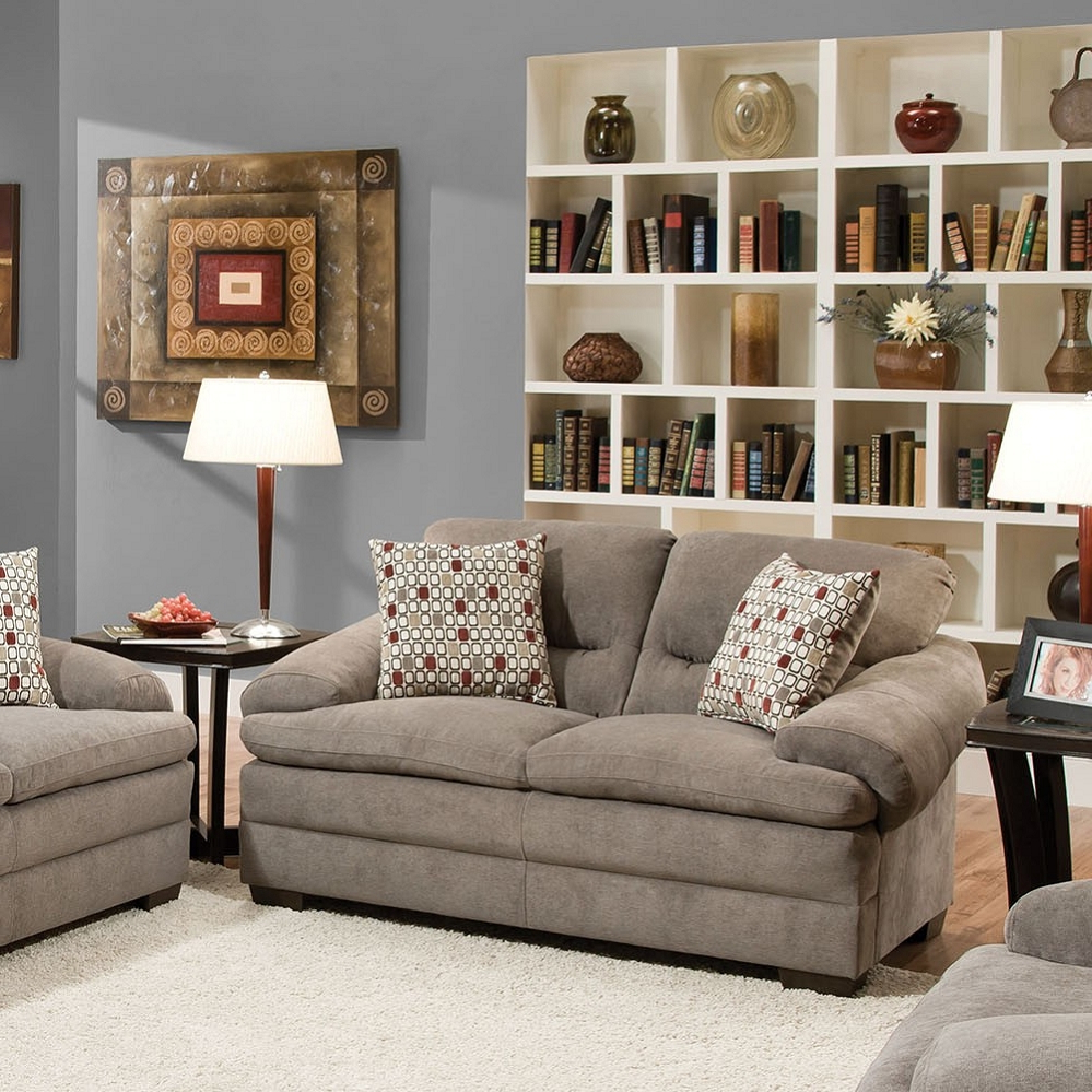 Preferred Debbie Coil Sectional Sofas For Roselyn Miranda Shale 2 Pillows Loveseat (View 10 of 25)