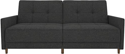 Preferred New Dhp Andora Coil Futon Sofa Bed Couch With Mid Century Inside Debbie Coil Sectional Futon Sofas (View 1 of 25)