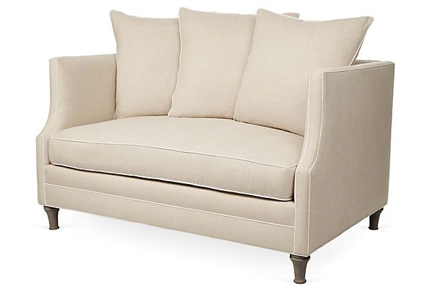 """Preferred One Kings Lane – The Relaxed Resort – Thompson 56"""" Sofa With Harmon Roll Arm Sectional Sofas (View 12 of 25)"""