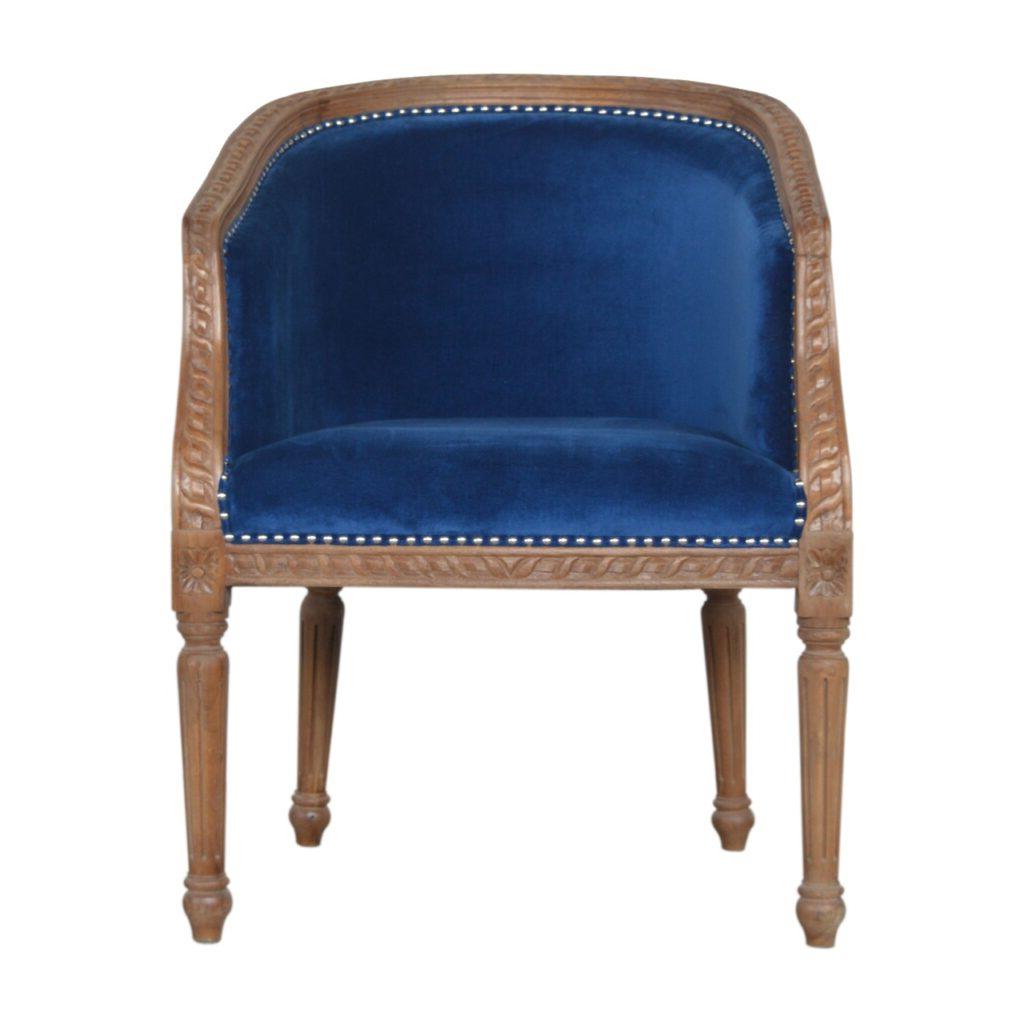 Preferred Royal Blue Velvet Occasional Chair – Artisan Furniture Pertaining To Artisan Blue Sofas (View 14 of 15)