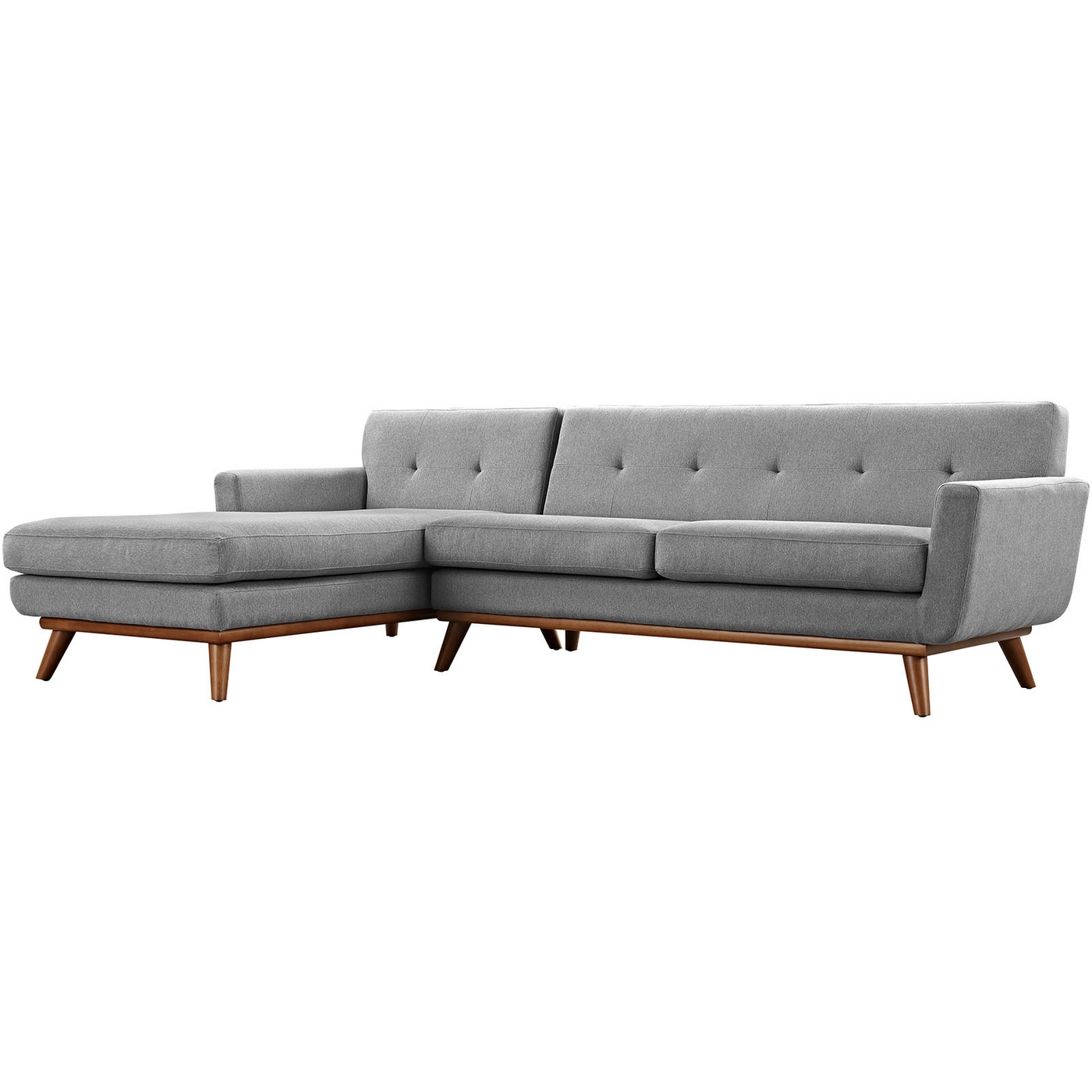 Recent Alani Mid Century Modern Sectional Sofas With Chaise Pertaining To Mid Century Modern Engage Right Facing Chaise Sectional (View 24 of 25)