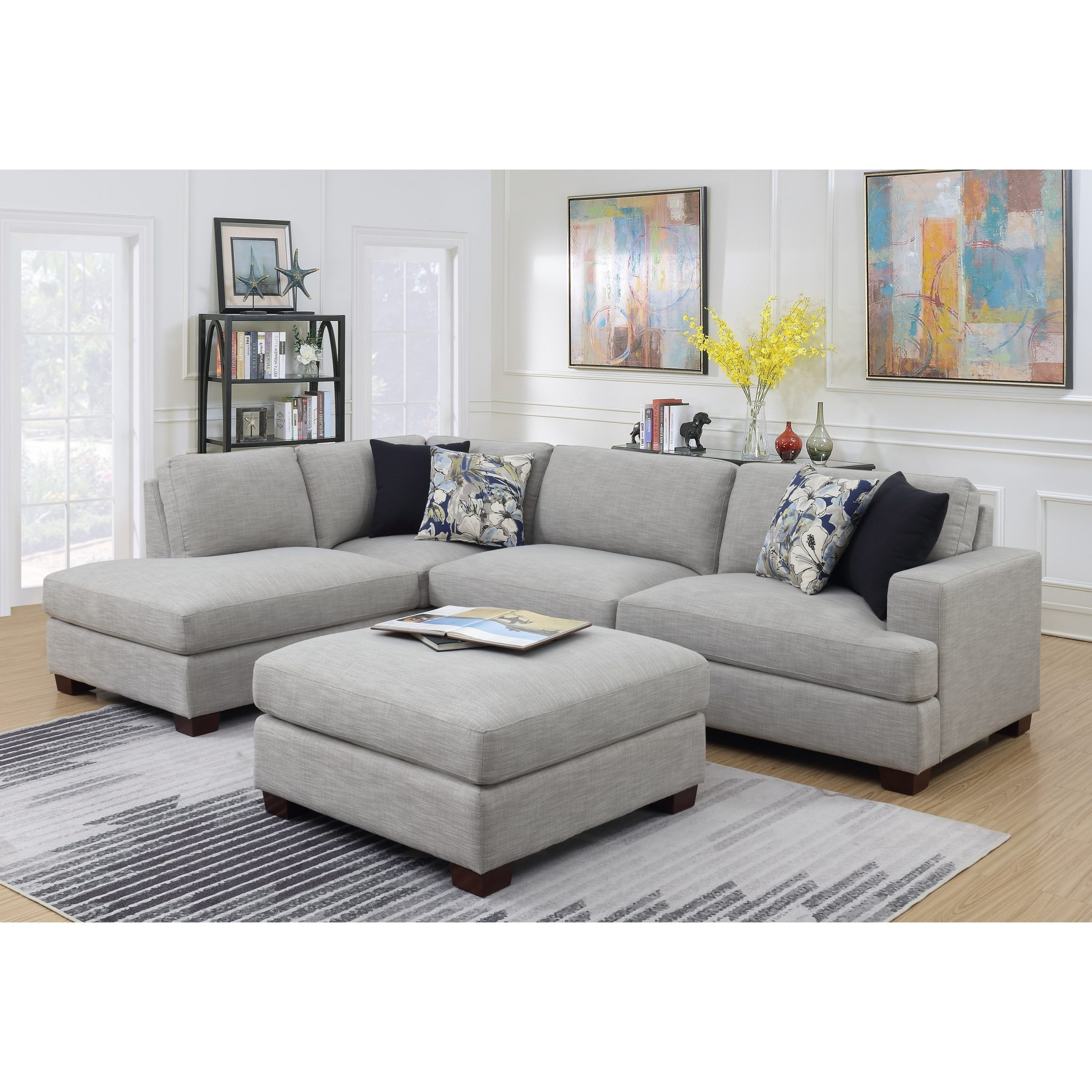 Recent Emerald Vernon Contemporary 2 Piece Sectional Sofa With Regarding 2Pc Burland Contemporary Chaise Sectional Sofas (View 1 of 25)