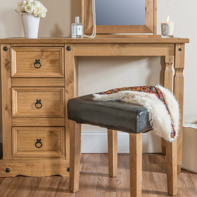 Recent Gracie Chocolate Sofas With Gracie Oaks Cavazos Solid Wood Vanity & Reviews (View 1 of 15)