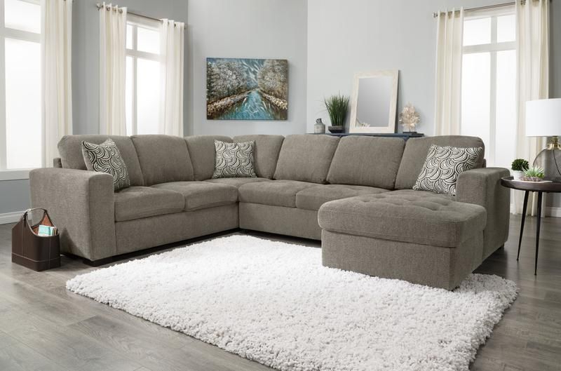 Recent Hugo Chenille Upholstered Storage Sectional Futon Sofas Intended For Izzy 3 Piece Chenille Left Facing Sleeper Sectional (View 8 of 25)