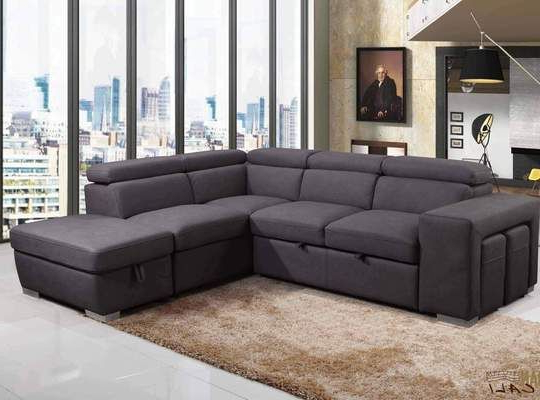 Recent Liberty Sectional Futon Sofas With Storage With Regard To Urban Cali Sleeper Sectional Right Facing Chaise Pasadena (View 4 of 25)
