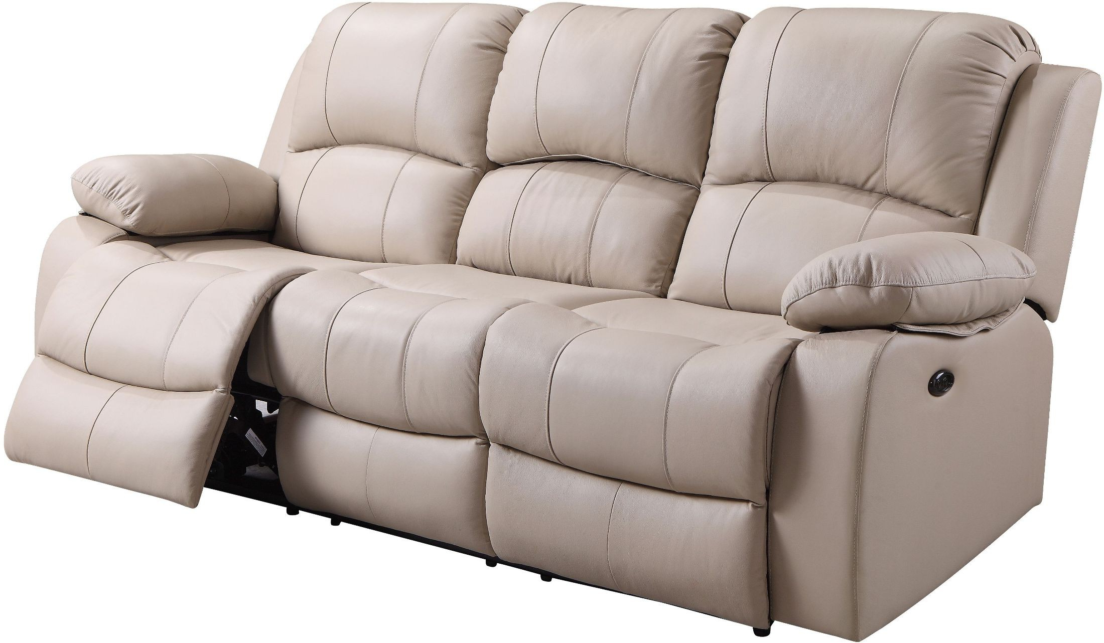Recent Raven Power Reclining Sofas Regarding Shae Winnfield Taupe Leather Power Reclining Sofa (View 2 of 15)