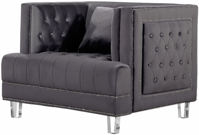 Recent Tufted Sofa Silver Nailhead – Sofa Design Ideas In 3Pc Polyfiber Sectional Sofas With Nail Head Trim Blue/Gray (View 4 of 25)