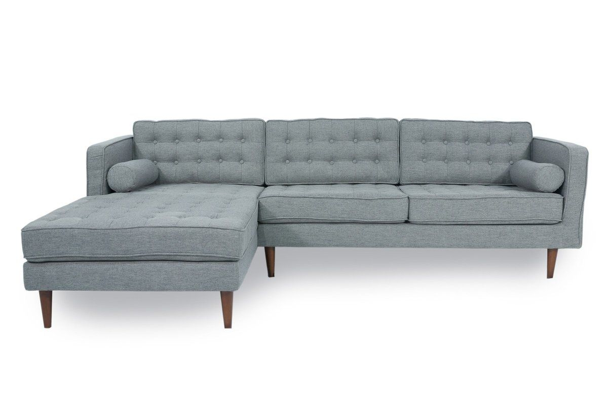 Sectional Sofa, Grey Throughout Verona Mid Century Reversible Sectional Sofas (View 6 of 25)