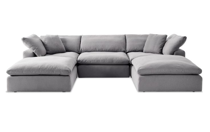 Sectional, U Shaped Within Dream Navy 2 Piece Modular Sofas (View 5 of 15)