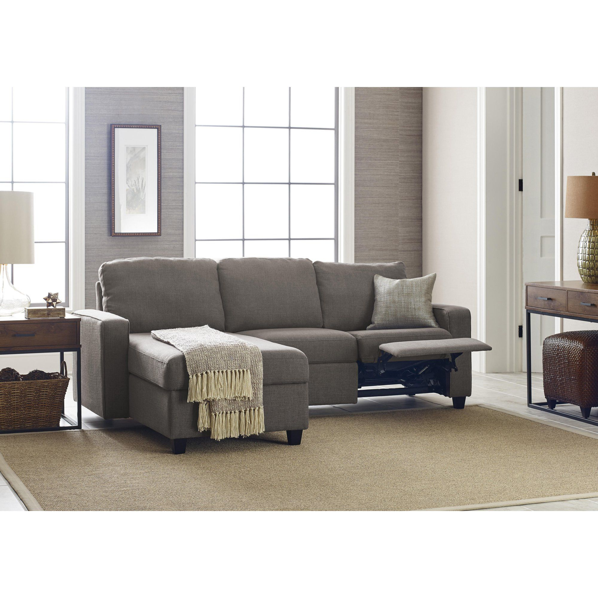 Serta Palisades Reclining Sectional With Right Storage For Newest Copenhagen Reclining Sectional Sofas With Right Storage Chaise (View 7 of 25)