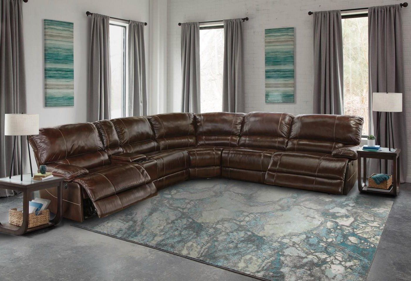 Shaw Havana Contemporary Power Reclining L Shaped Regarding Most Popular Owego L Shaped Sectional Sofas (View 7 of 25)