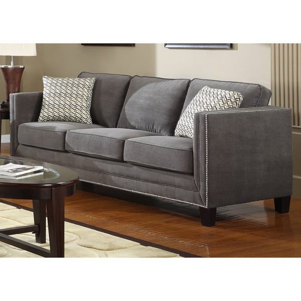 Shop Charcoal Grey Contemporary Sofa – Free Shipping Today For Most Recently Released Ludovic Contemporary Sofas Light Gray (View 15 of 25)