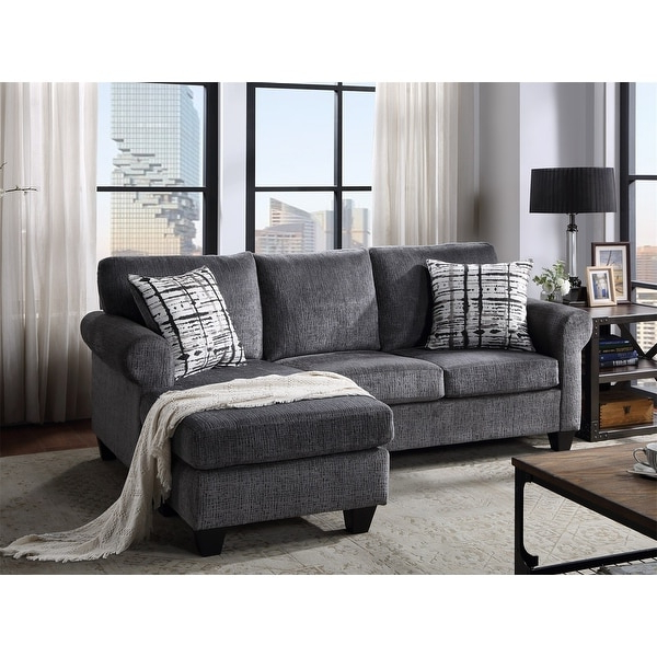 Shop Merax Upholstered Modern Linen Fabric L Shape 3 Inside Most Popular Mireille Modern And Contemporary Fabric Upholstered Sectional Sofas (View 8 of 25)