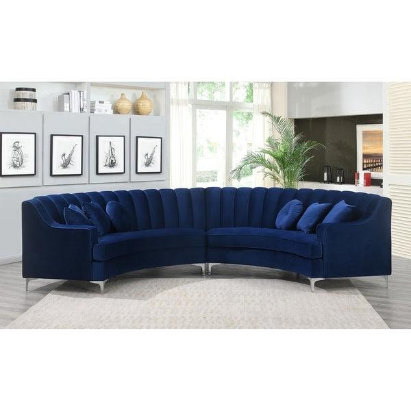 Shop Semi Circular Velvet Sectional Sofa – Overstock Within Popular Strummer Velvet Sectional Sofas (View 11 of 25)