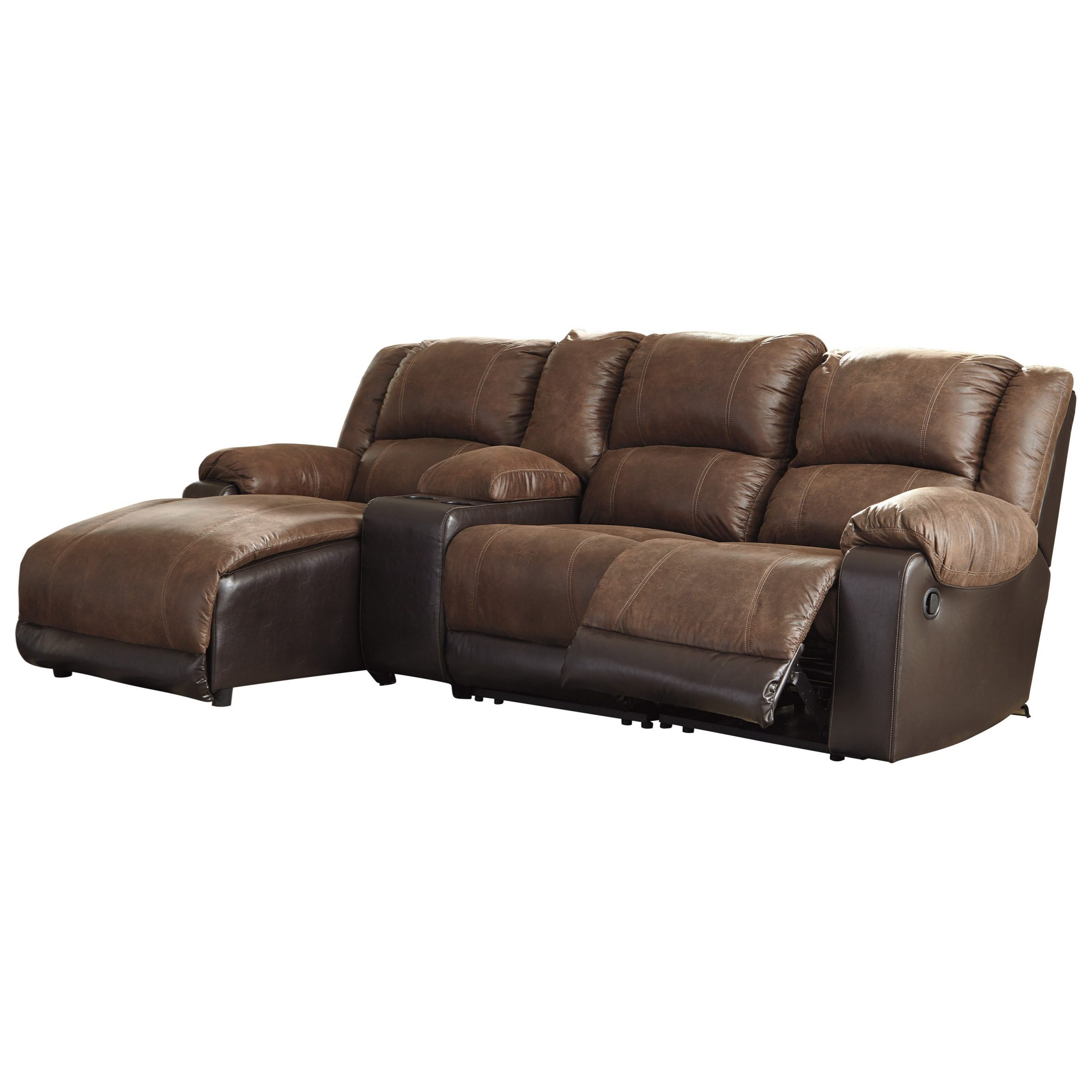 Signature Designashley Nantahala Reclining Chaise Sofa Throughout Well Known Copenhagen Reclining Sectional Sofas With Left Storage Chaise (View 25 of 25)