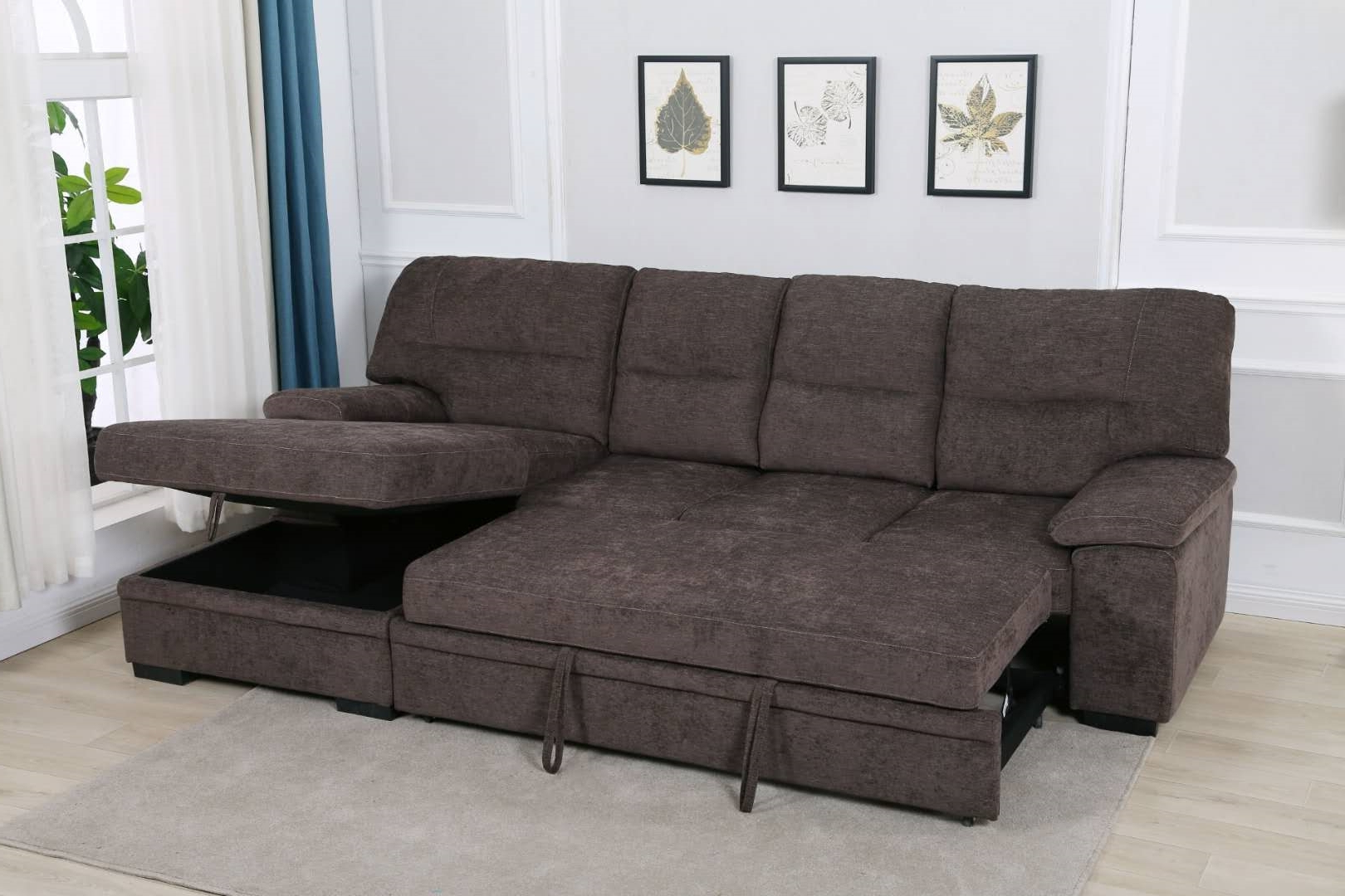 Silvio Sectional Sofa/ Sofa Bed With Storage Ifurniture For 2018 Live It Cozy Sectional Sofa Beds With Storage (View 5 of 25)