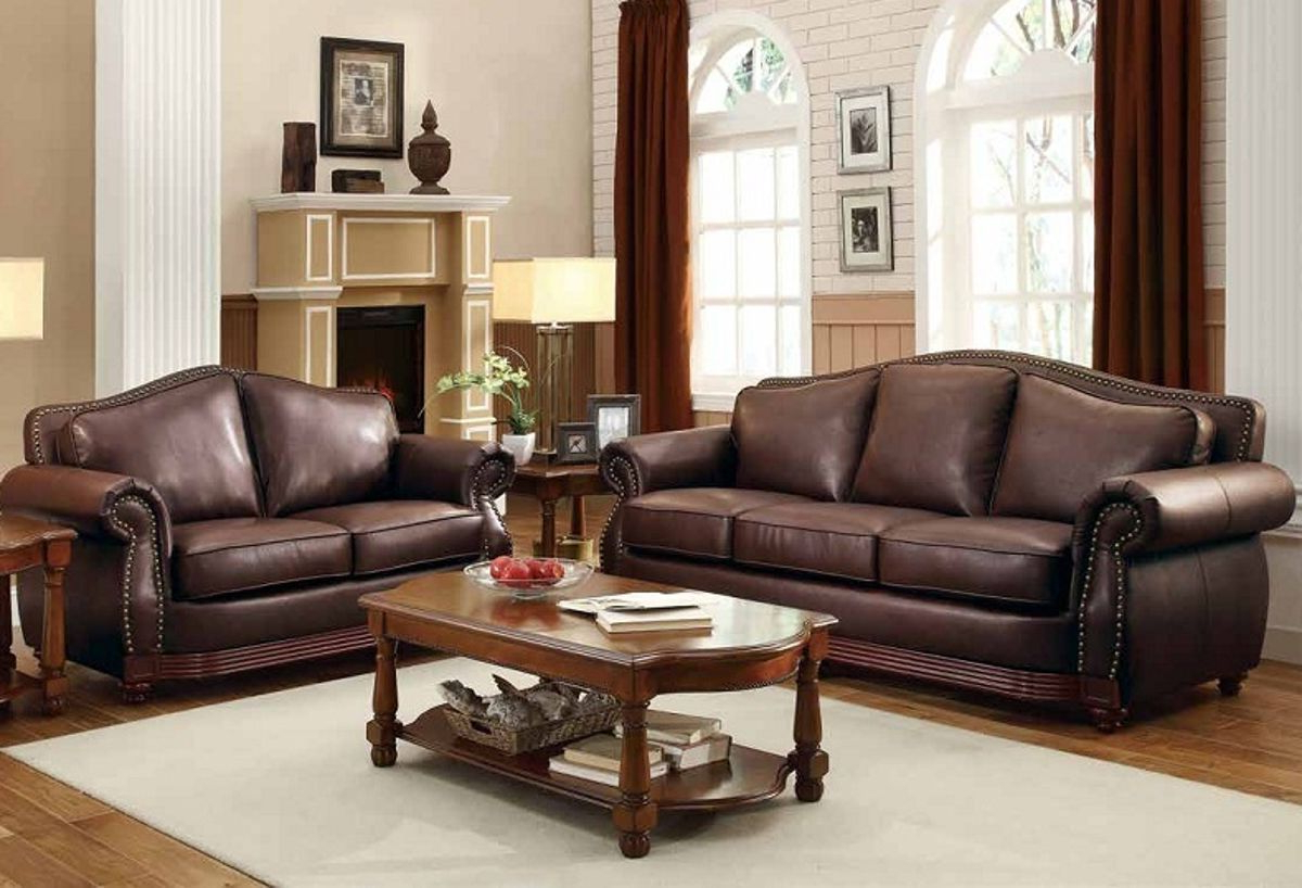 Sofa And Intended For 3Pc Bonded Leather Upholstered Wooden Sectional Sofas Brown (View 17 of 25)