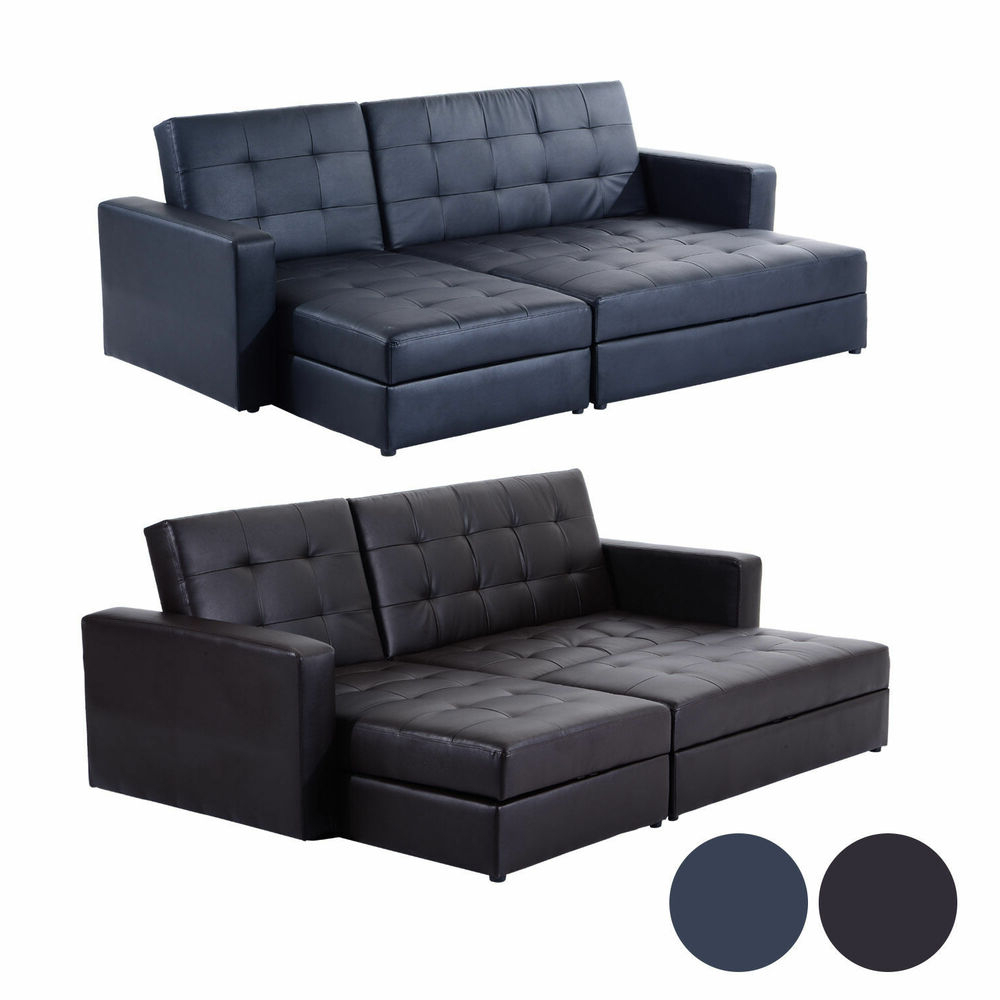Sofa Bed Storage Sleeper Chaise Loveseat Couch Sectional For Famous Prato Storage Sectional Futon Sofas (View 24 of 25)