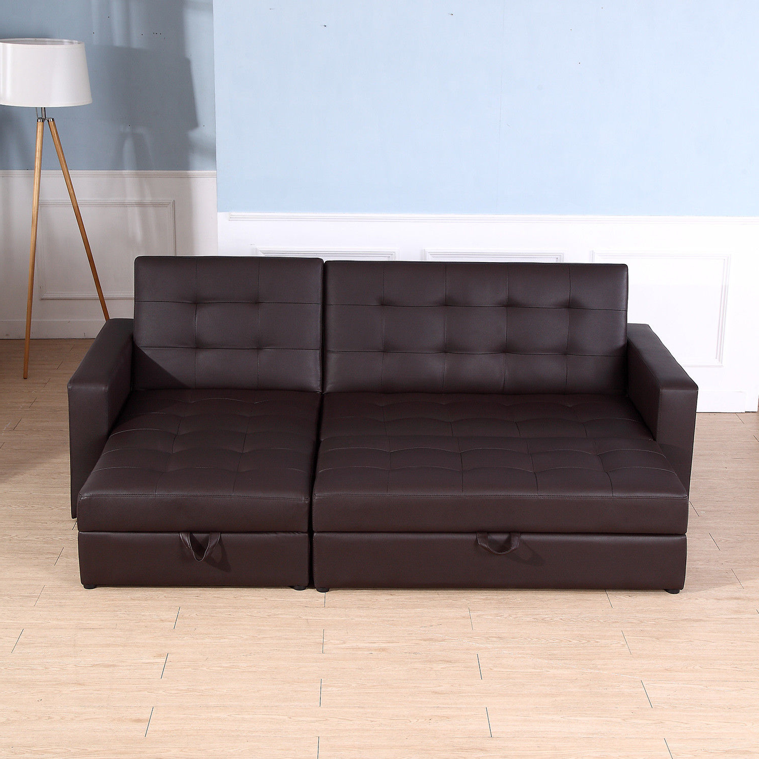 Sofa Bed Storage Sleeper Chaise Loveseat Couch Sectional Throughout 2017 Celine Sectional Futon Sofas With Storage Reclining Couch (View 3 of 25)