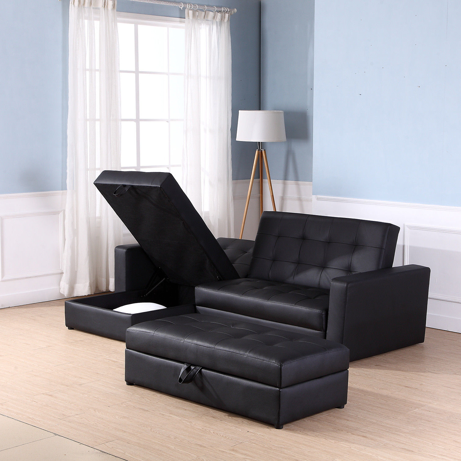 Sofa Bed Storage Sleeper Chaise Loveseat Couch Sectional With Best And Newest Live It Cozy Sectional Sofa Beds With Storage (View 13 of 25)
