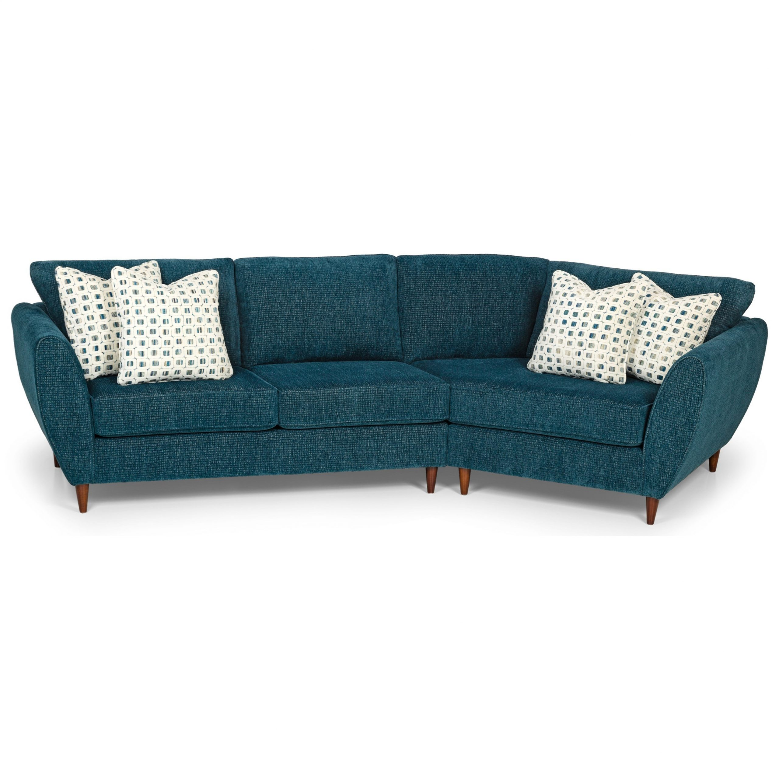 Stanton 473 Mid Century Modern 2 Piece Sectional Sofa With Intended For Well Known Florence Mid Century Modern Left Sectional Sofas (View 2 of 25)