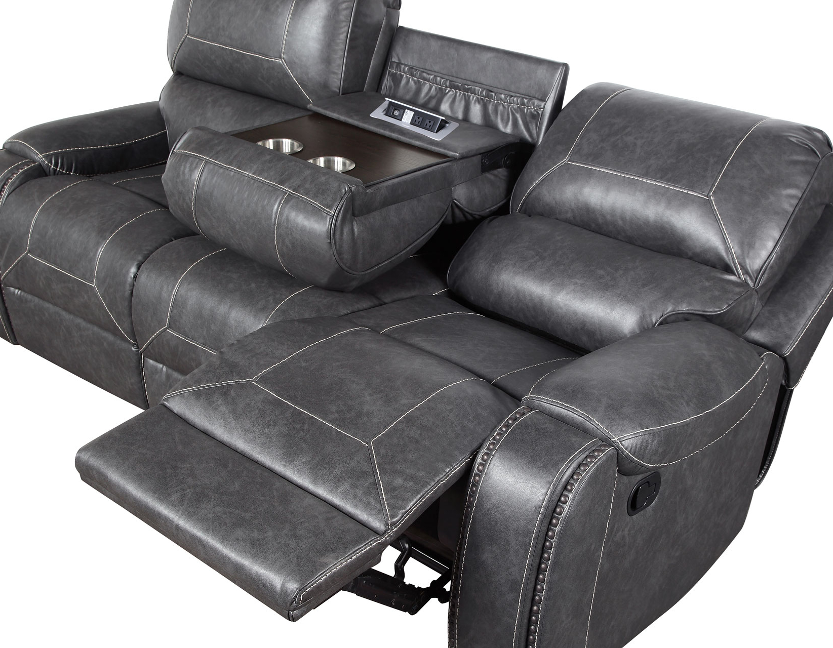 Steve Silver Ke800Sg Keily Gray Manual Motion Reclining Within Latest Gray Reclining Sofas (View 3 of 17)