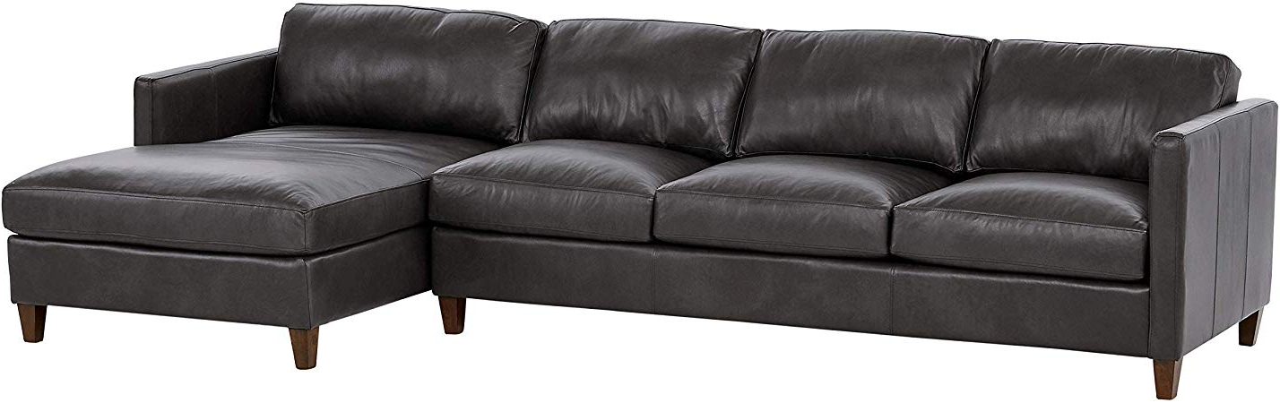 """Stone Beam Andover Right Facing Sofa Chaise Sectional, """"W Inside Best And Newest Dulce Right Sectional Sofas Twill Stone (View 6 of 25)"""