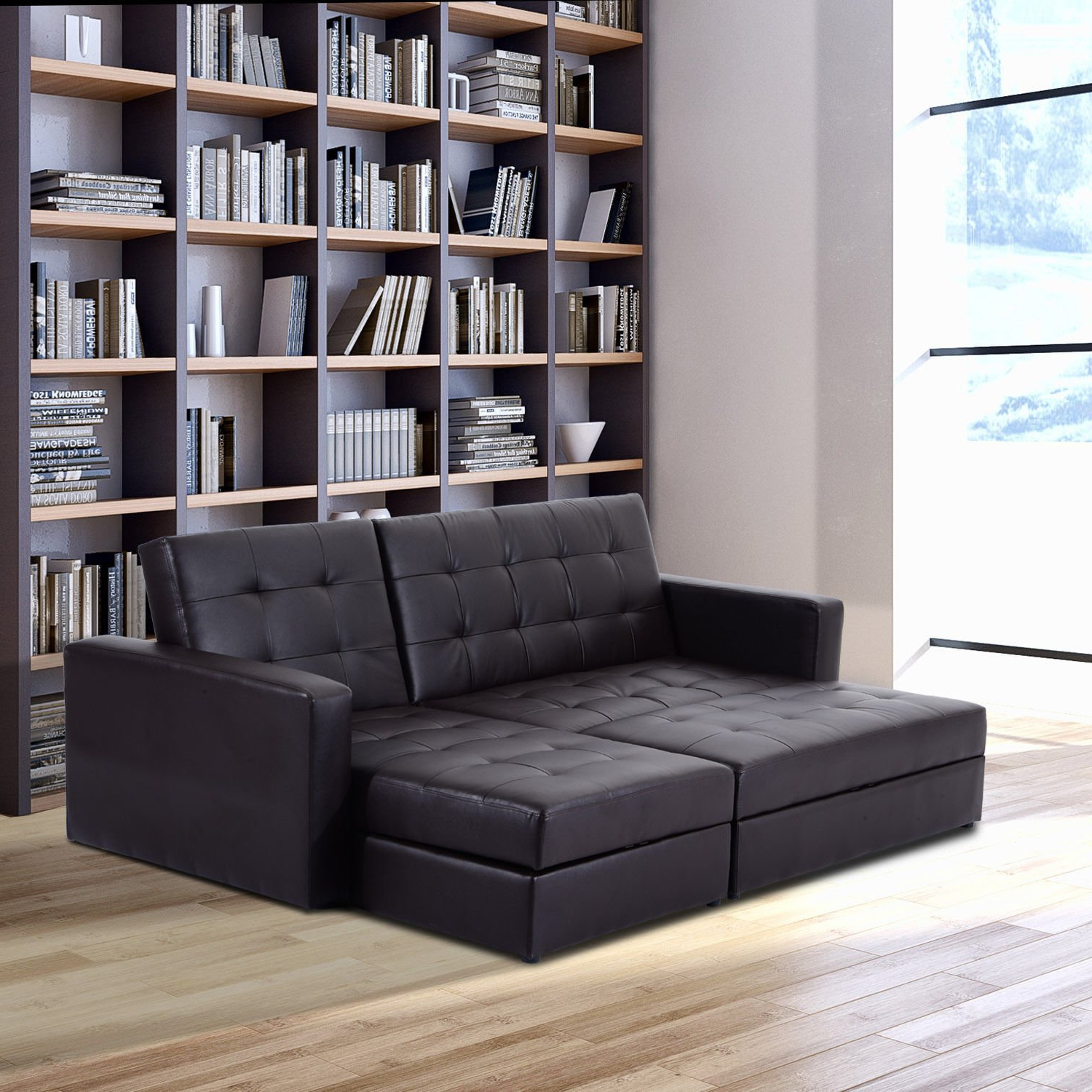 Storage+Sleeper+Couch+Sofa+Bed – Simply Style Throughout Fashionable Prato Storage Sectional Futon Sofas (View 11 of 25)