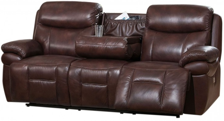 Summerlands Ii Brown Adjustable Headrest Power Reclining With Regard To Most Recently Released Expedition Brown Power Reclining Sofas (View 12 of 15)