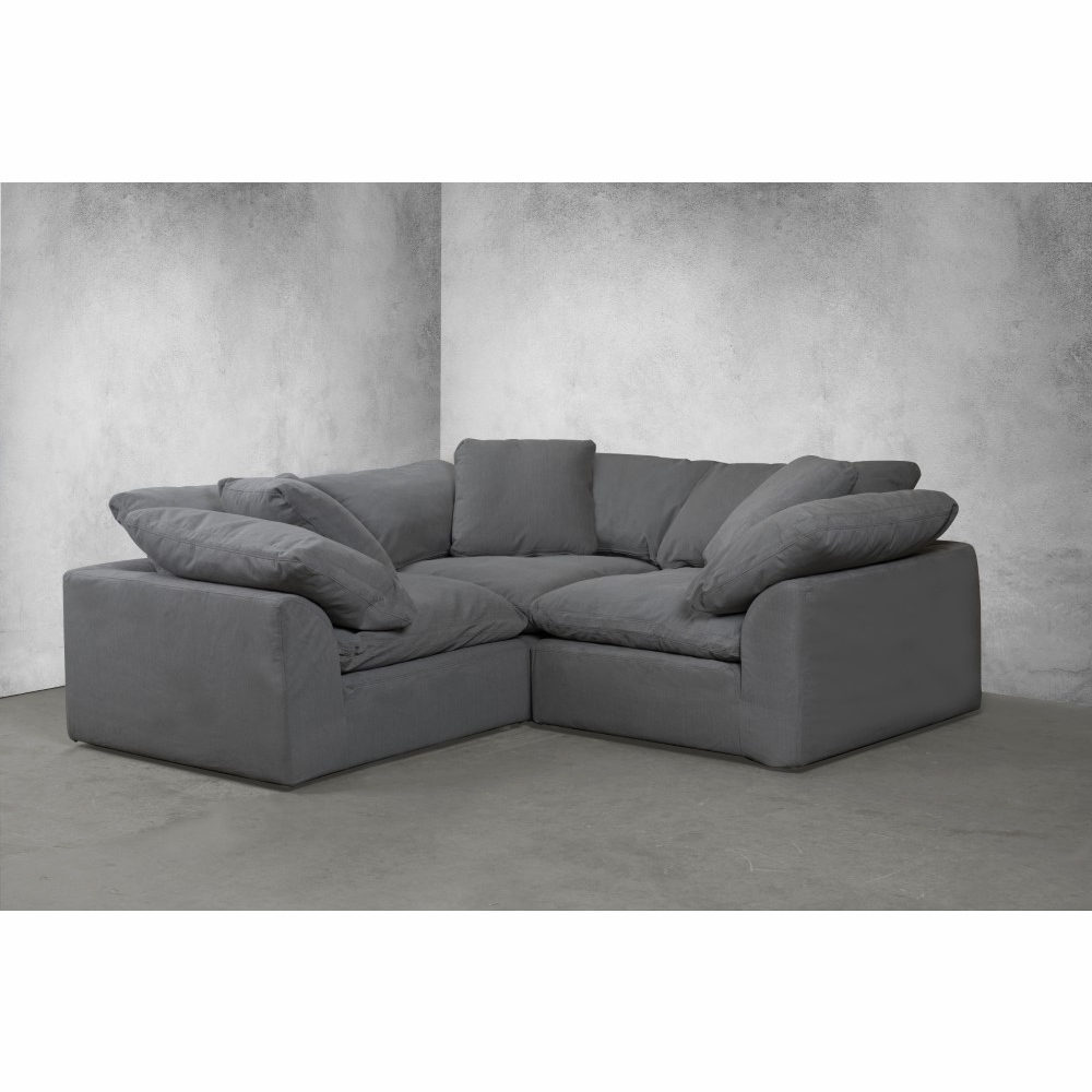 Sunset Trading – Cloud Puff 3 Piece Slipcovered Modular Regarding Most Popular Owego L Shaped Sectional Sofas (View 8 of 25)
