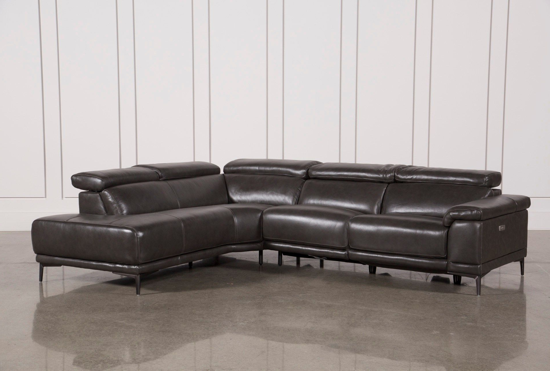 Tatum Dark Grey 2 Piece Sectional With Right Arm Facing For Popular 2Pc Crowningshield Contemporary Chaise Sofas Light Gray (View 25 of 25)