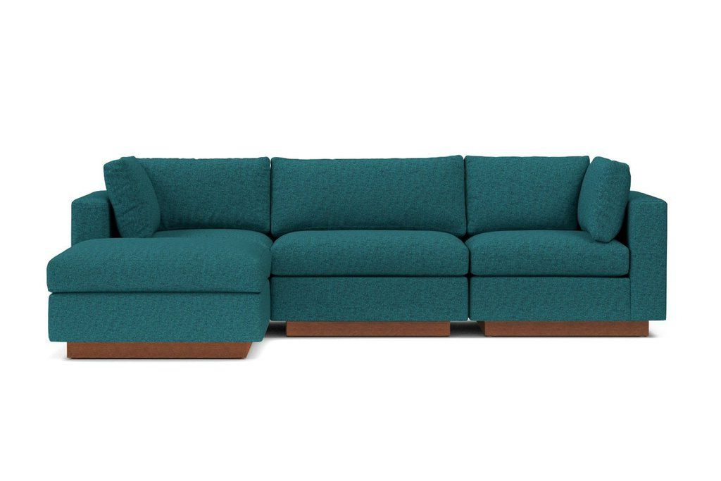 Taylor Plush 4Pc Modular Chaise Sectional Sofa :: Leg Within Fashionable 4Pc Beckett Contemporary Sectional Sofas And Ottoman Sets (View 18 of 25)