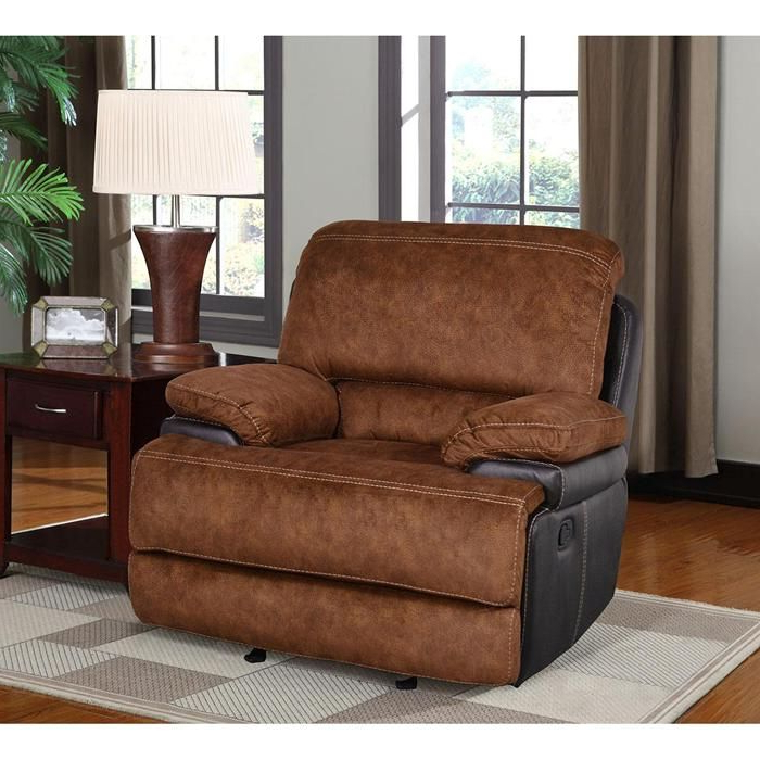 Trailblazer Gray Leather Power Reclining Sofas Intended For Current Glider Recliner In Trailblazer Pecan (View 9 of 15)