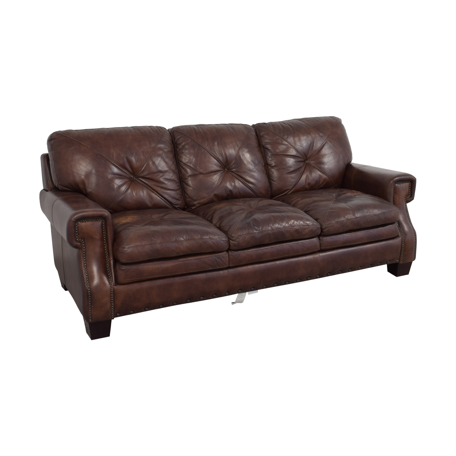 Trailblazer Gray Leather Power Reclining Sofas With Regard To Most Recently Released Bobs Furniture Leather Sofa : Trailblazer Gray Leather (View 5 of 15)