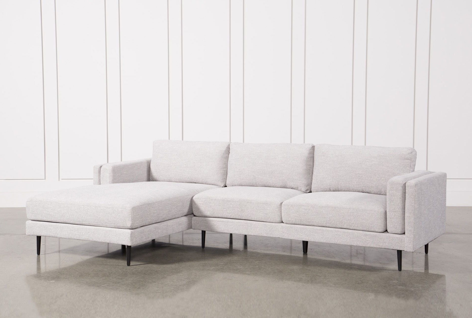 Trendy 2Pc Crowningshield Contemporary Chaise Sofas Light Gray In Aquarius Light Grey 2 Piece Sectional W/Raf Chaise, Sofas (View 2 of 25)