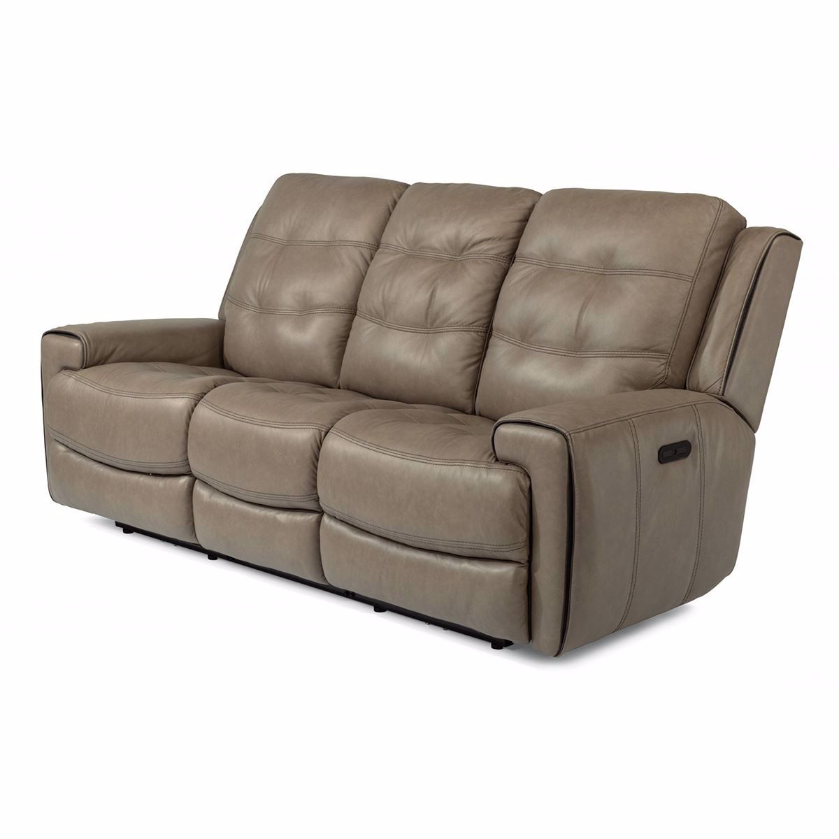 Trendy Charleston Power Reclining Sofas For Wicklow Power Reclining Leather Sofa With Power Headrest (View 3 of 15)