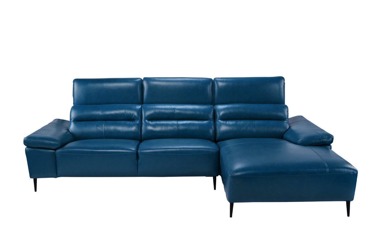 Trendy Classic Low Profile Sectional Couch With Left Chaise Intended For Dulce Mid Century Chaise Sofas Dark Blue (View 5 of 25)