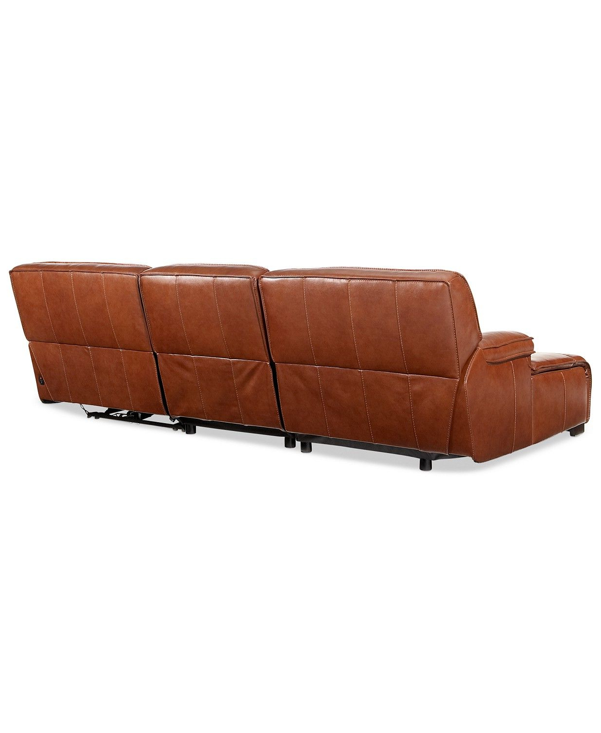 Trendy Furniture Beckett 3 Pc Leather Sectional Sofa With Chaise With 3Pc Miles Leather Sectional Sofas With Chaise (View 8 of 25)