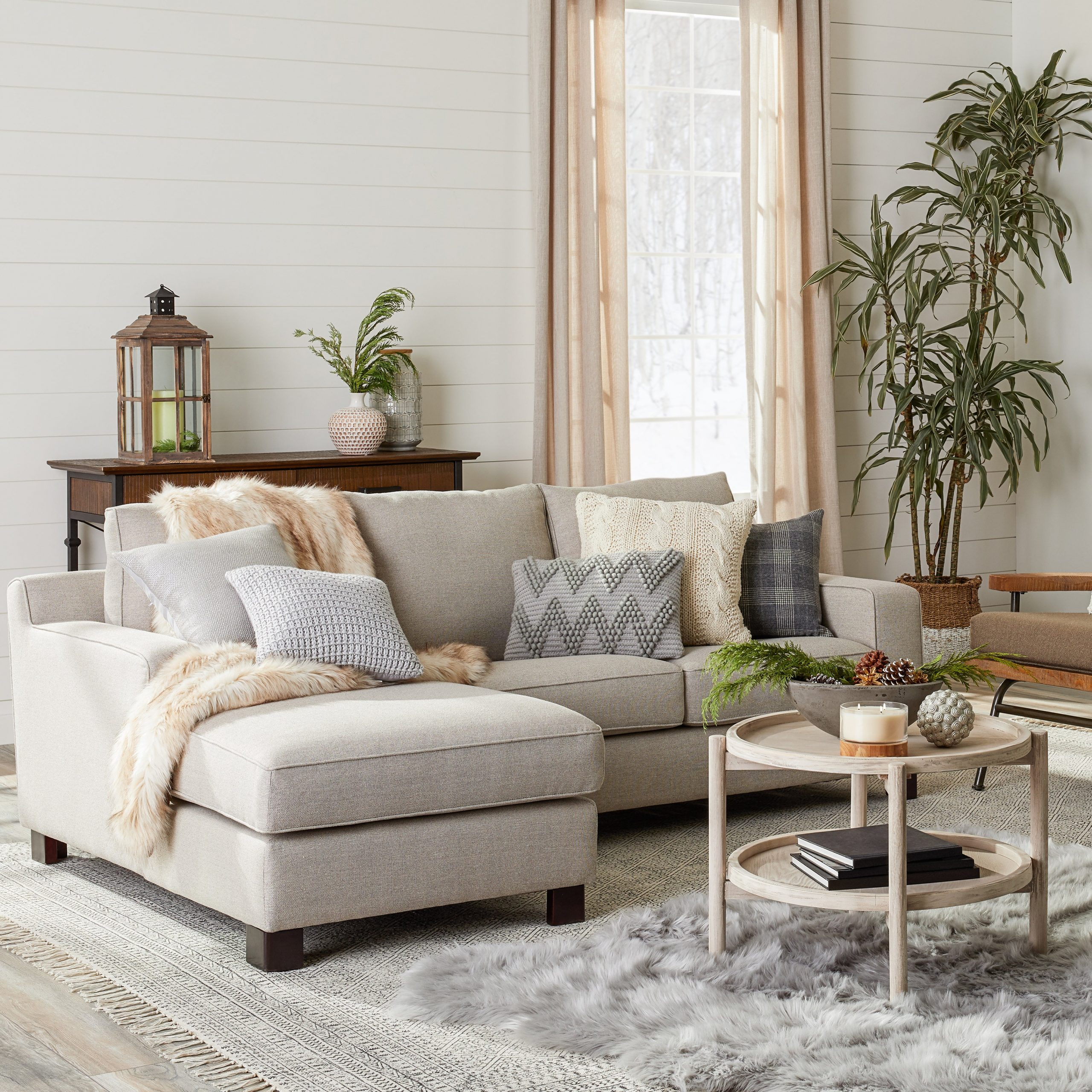 Trendy Gray Tweed Sectional Sofa Dante Sectional Sofa With Chaise Intended For 2Pc Crowningshield Contemporary Chaise Sofas Light Gray (View 11 of 25)