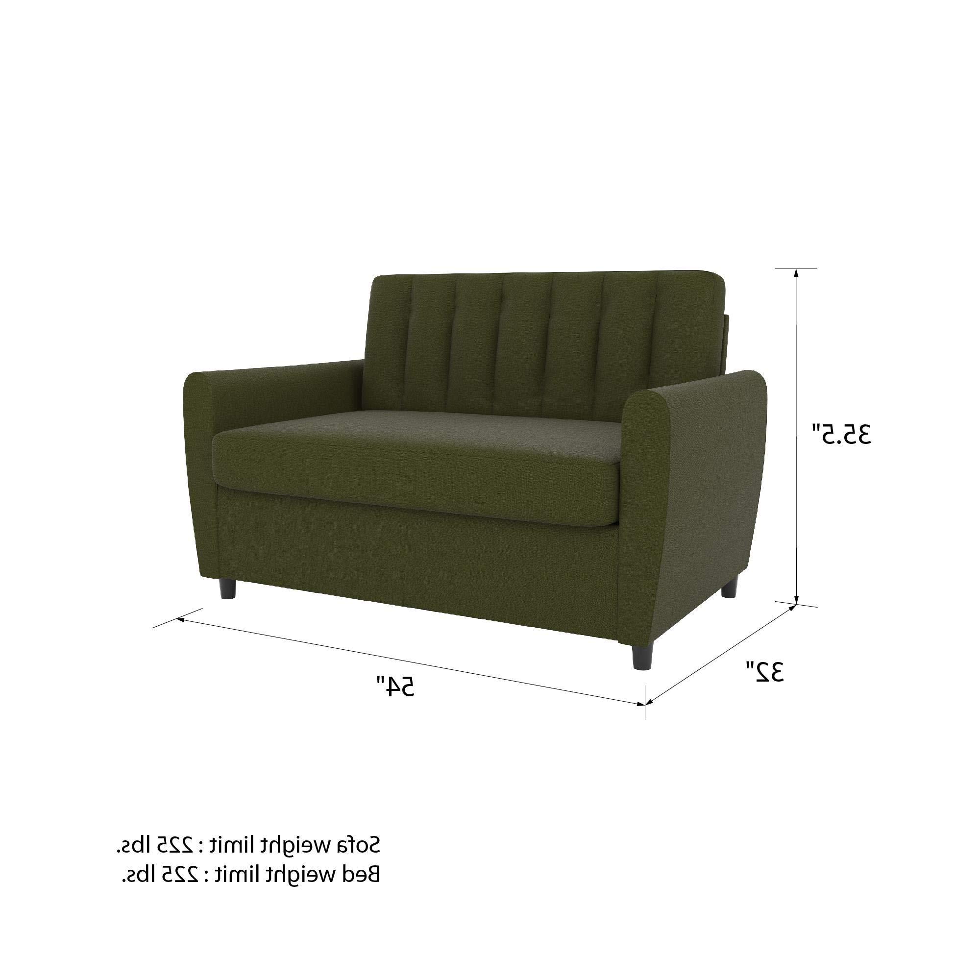 Trendy Novogratz Brittany Sofa Futon – Navy Linen – Active Furniture In Brittany Sectional Futon Sofas (View 18 of 25)