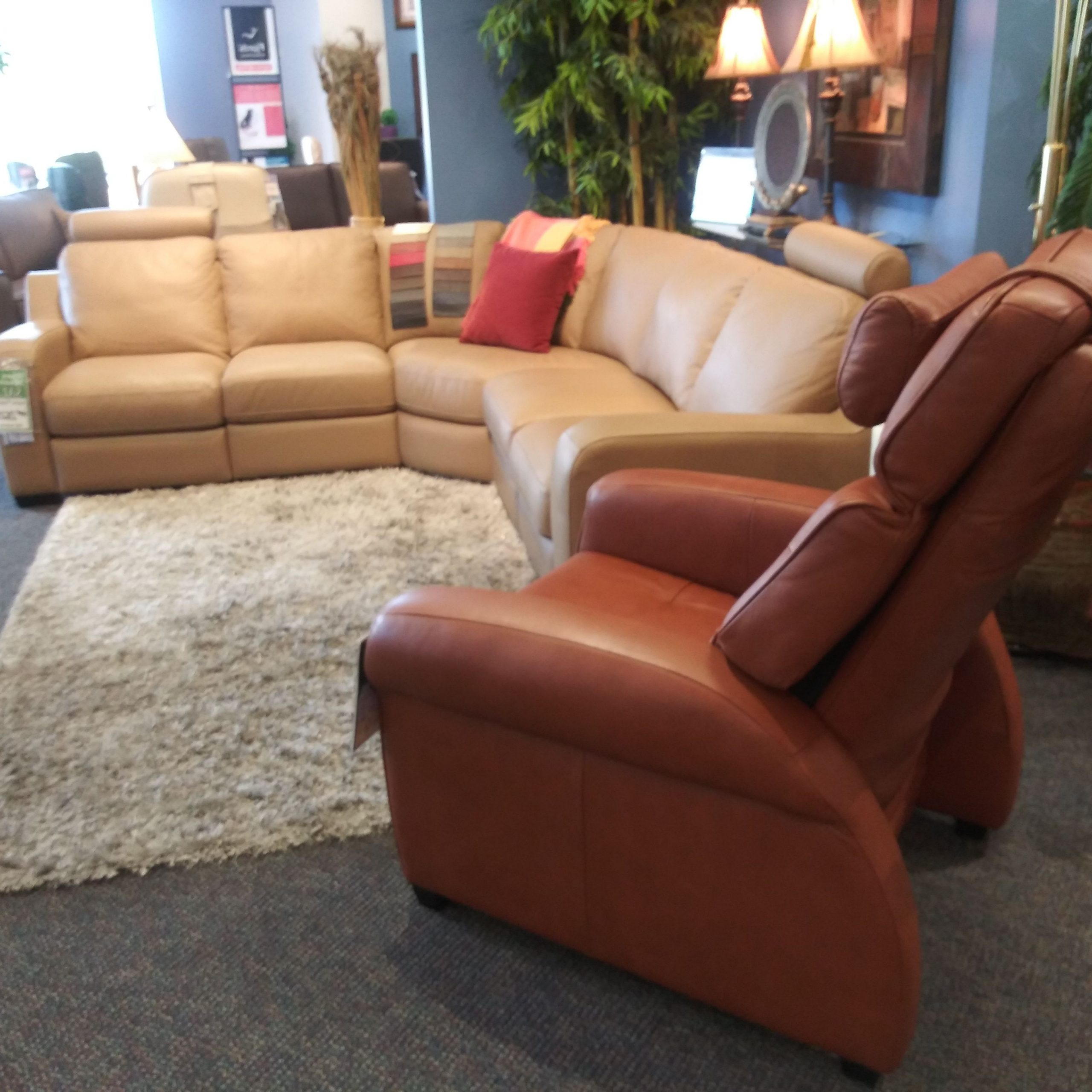 Trendy Trailblazer Gray Leather Power Reclining Sofas For Pinleather Ave. On Leather Ave (View 12 of 15)