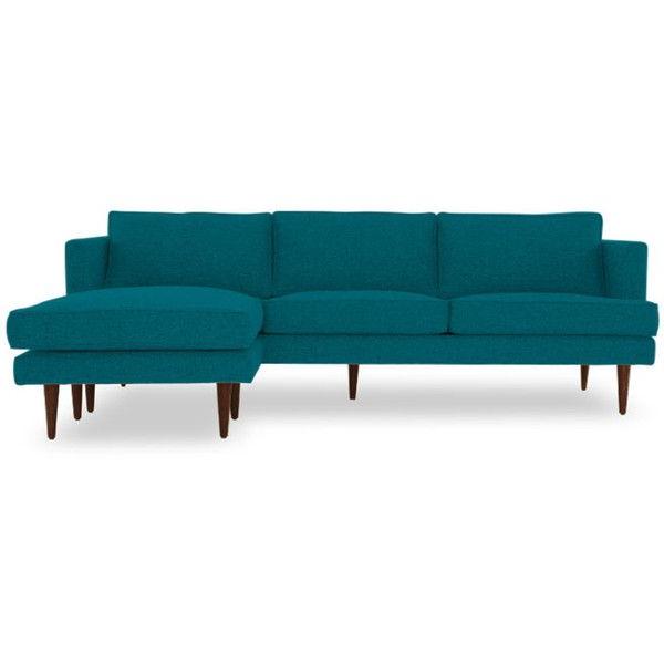 Trendy Verona Mid Century Reversible Sectional Sofas Pertaining To Joybird Preston Mid Century Modern Blue Reversible (View 25 of 25)