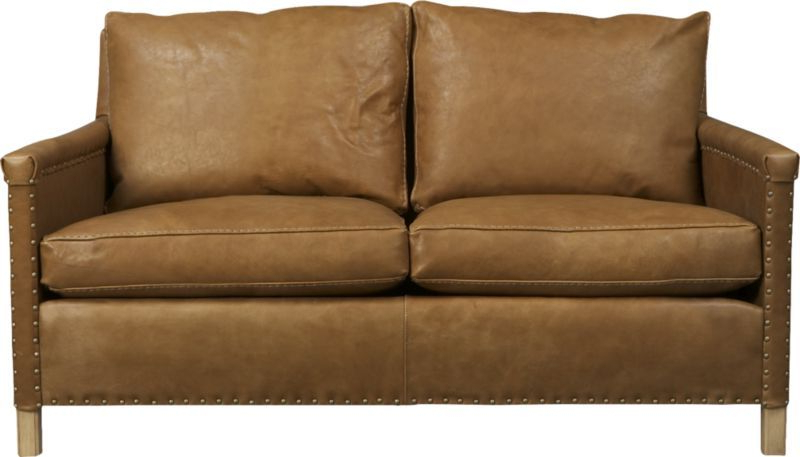 """Trevor 72"""" Leather Apartment Sofa (View 13 of 15)"""