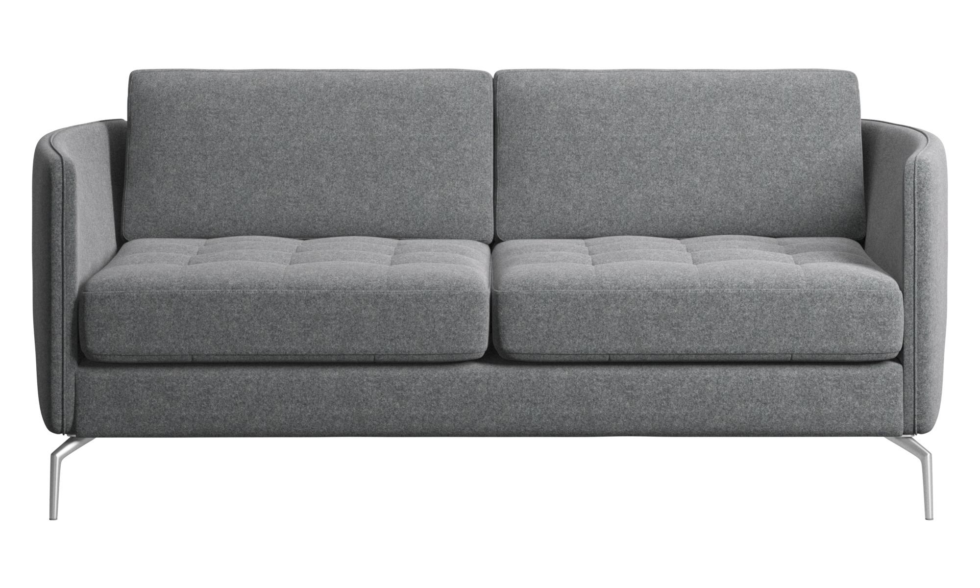 Tufted Blue Suede 3 Seat Sofa Loveseat Blue Couch Blue With Most Recently Released 3Pc Polyfiber Sectional Sofas With Nail Head Trim Blue/Gray (View 7 of 25)
