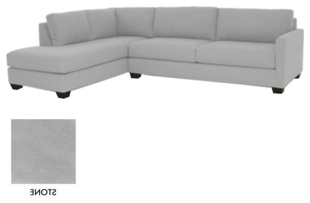 Tuxedo 2Pc Sectional Sofa, Stone, 120X87X30, Chaise On Intended For Famous 2Pc Connel Modern Chaise Sectional Sofas Black (View 21 of 25)