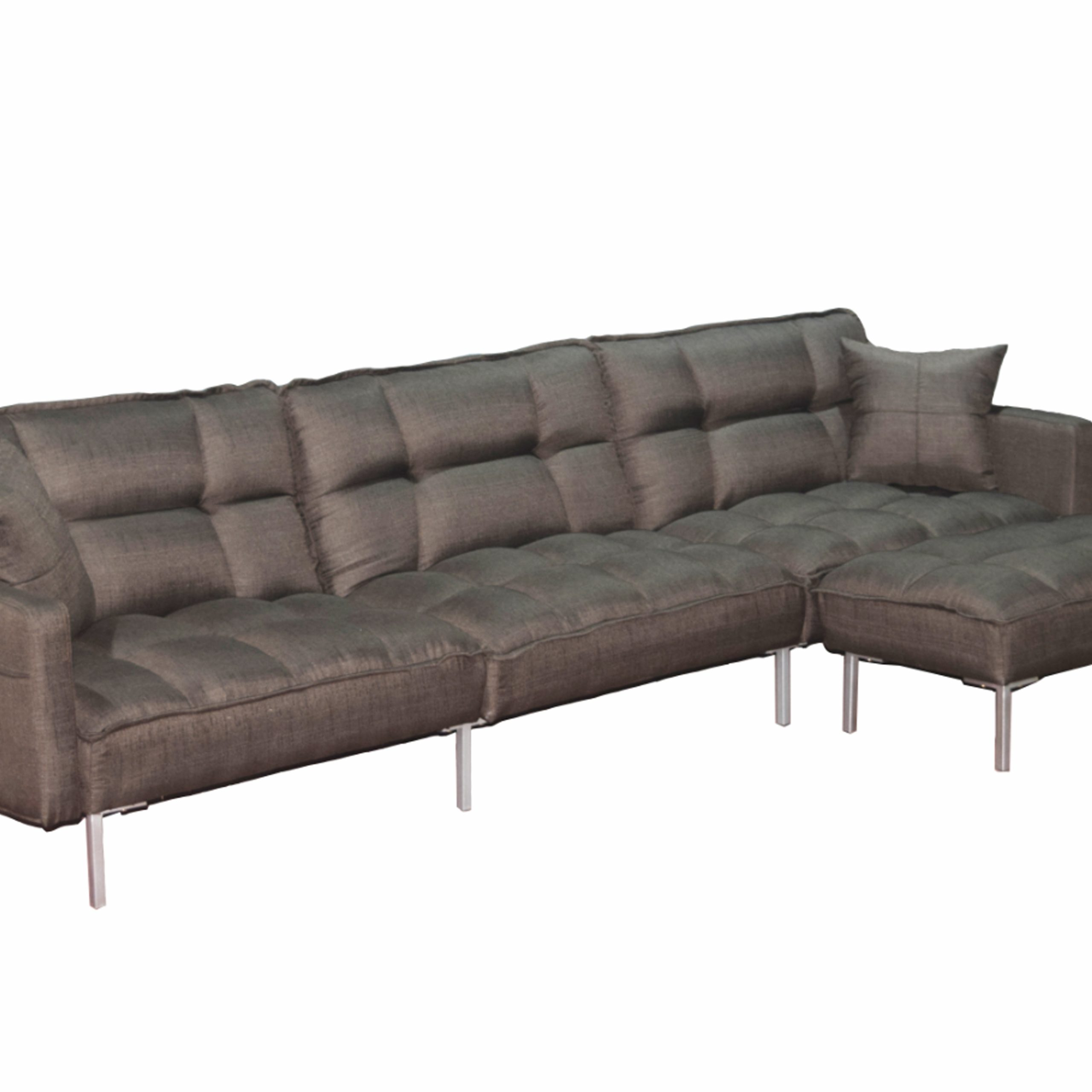 Upholstery Tufted L Shaped Sofa, 109'' X 53'' X  (View 4 of 25)