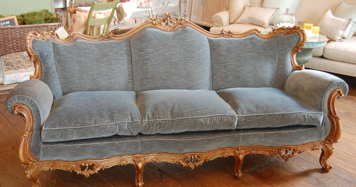 Urban Farmhouse: Beautiful Faded Blue Velvet French Style With Well Liked French Seamed Sectional Sofas In Velvet (View 17 of 25)